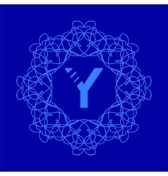 Monogram y design vector