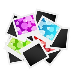 Photo frame collection with bubbles or blank vector