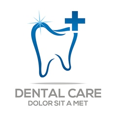 Logo dental care tooth protection oral vector