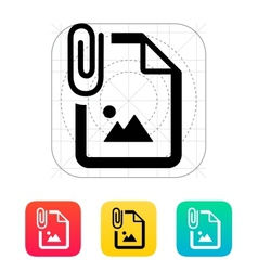 Attached photo file icon vector