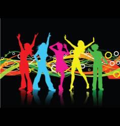 Female dancers vector
