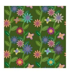 Flowering field vector