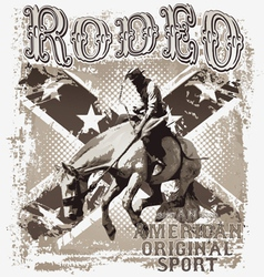 American original rodeo sport vector