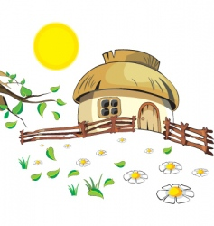 Cartoon cottage vector
