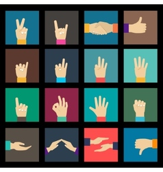 Hands icons set vector