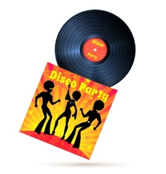 Vinyl record and cover vector