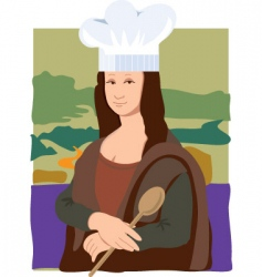 Mona lisa chef vector
