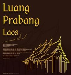 Wat xieng thong templeluang pra bang laos vector