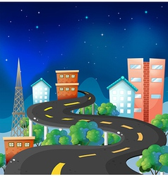 A curve road in the city vector