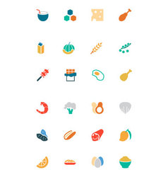Food and drinks colored icons 18 vector