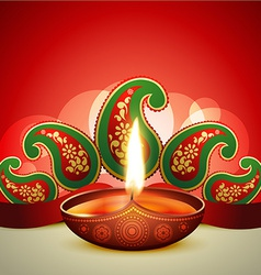 Beautiful diwali diya vector
