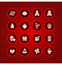 Set valentines day icons love romantic symbols vector