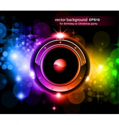 Music disco background vector