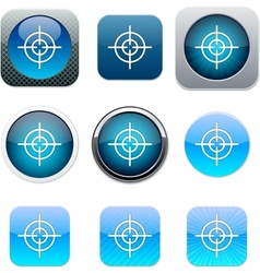 Sight blue app icons vector