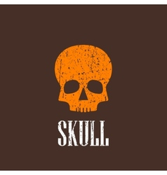 Vintage with a skull vector