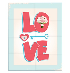 Love greeting card or poster design vector