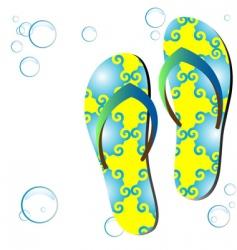 Colored flip-flops vector