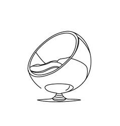 Interior design- egg chair vector