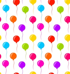 Seamless texture multicolored balloons for party vector
