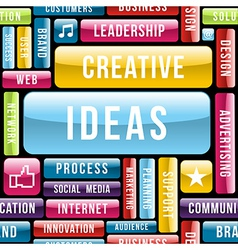 Creative ideas concept pattern vector