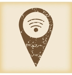 Grungy wi-fi pointer icon vector