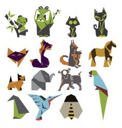 Origami mark set vector