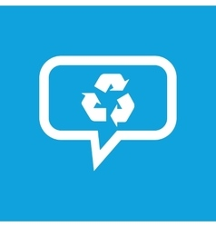 Recycle message icon vector