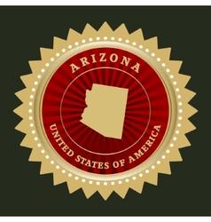 Star label arizona vector