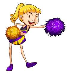 A pretty cheerleader vector