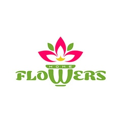 Home flowers logo template vector