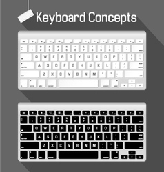 Keyboard concepts vector