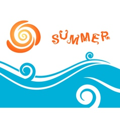 Sea and sun summer background vector