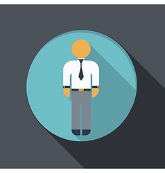 Flat icon business man in a tie vector