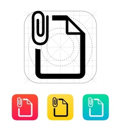 Attached file icon vector