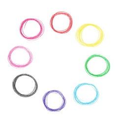 Colorful pencil circles set vector