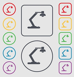 Light bulb electricity icon sign symbol on the vector