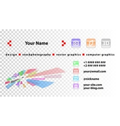 Template designer business cards vector