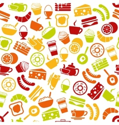 Breakfast seamless pattern vector