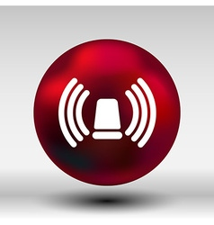 Icon beacon siren isolated caution police white vector
