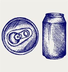 Beer can vector