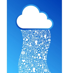Cloud computing network background vector