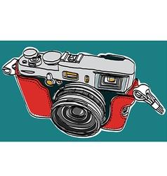 Rangefinder camera sketchbook vector