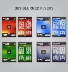 Blur flyer set vector