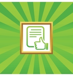 Good document picture icon vector