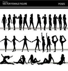 Female figures vector