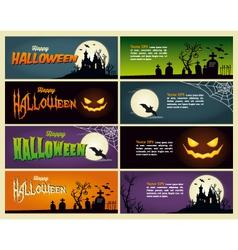 Happy halloween set banner vector