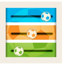 Football infographic sliders vector
