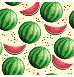 Bright seamless wallpaper with watermelon vector