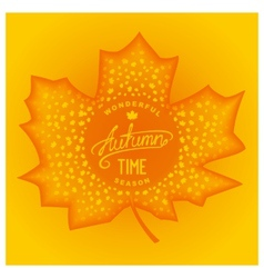 Autumn abstract carving maple vector