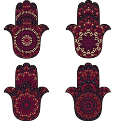 Set of hamsa vector